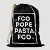FCO - Pope / Pasta - Laundry Bag - Airportag