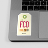 FCO - Sticker - Airportag