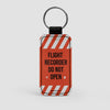 Flight Recorder - Leather Keychain - Airportag