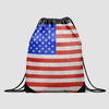 USA Flag - Drawstring Bag - Airportag