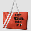 Flight Recorder - Weekender Bag - Airportag