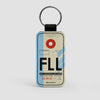 FLL - Leather Keychain - Airportag