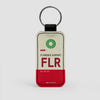 FLR - Leather Keychain - Airportag