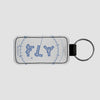Fly VFR Chart - Leather Keychain - Airportag