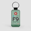 F9 - Leather Keychain - Airportag