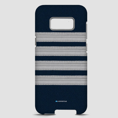 Pilot Stripes Silver - Phone Case