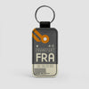 FRA - Leather Keychain - Airportag