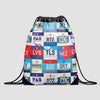 French Airports - Drawstring Bag - Airportag