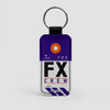 FX - Leather Keychain - Airportag