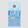 GRB - Beach Towel - Airportag