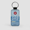 GRB - Leather Keychain - Airportag