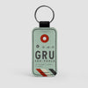 GRU - Leather Keychain - Airportag