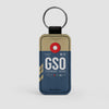GSO - Leather Keychain - Airportag
