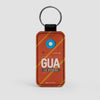 GUA - Leather Keychain - Airportag