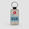 GVA - Leather Keychain - Airportag