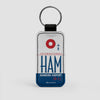 HAM - Leather Keychain - Airportag
