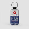 HAV - Leather Keychain - Airportag