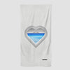 Heart Window - Beach Towel