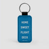 Home Sweet Flight Deck - Leather Keychain - Airportag