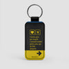 I love you... pick you up at the airport - Leather Keychain - Airportag