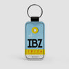 IBZ - Leather Keychain - Airportag