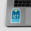 ICT - Sticker - Airportag