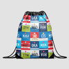 Japanese Airports - Drawstring Bag