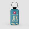 JFK - Leather Keychain - Airportag