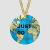 Just Go - World Map - Ornament