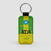 KOA - Leather Keychain - Airportag