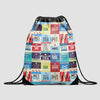 L Airports USA - Drawstring Bag - Airportag