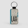 LAX - Leather Keychain - Airportag