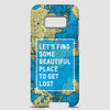 Let's Find - World Map - Phone Case - Airportag