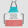 Look at Airplanes - Kitchen Apron
