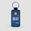 MAF - Leather Keychain - Airportag