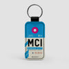 MCI - Leather Keychain - Airportag