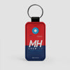 MH - Leather Keychain - Airportag