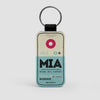 MIA - Leather Keychain - Airportag
