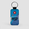 MSP - Leather Keychain - Airportag