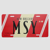 MSY - License Plate - Airportag