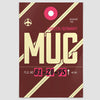MUC - Poster - Airportag