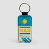 NAS - Leather Keychain - Airportag