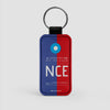 NCE - Leather Keychain - Airportag