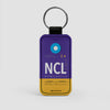 NCL - Leather Keychain - Airportag