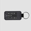 Never Not Flying Flight Board - Leather Keychain - Airportag