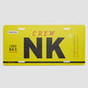 NK - License Plate - Airportag