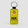 NK - Leather Keychain - Airportag