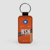 NSN - Leather Keychain - Airportag