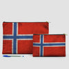 Norwegian Flag - Pouch Bag - airportag  - 5