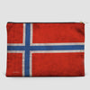 Norwegian Flag - Pouch Bag - airportag  - 4